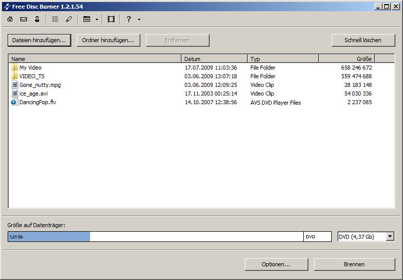 Free Disc Burner 3.0.1