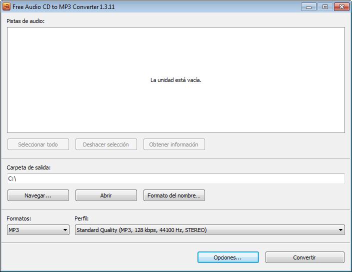 Convertir audio CD a formato MP3 | Free Audio CD to MP3