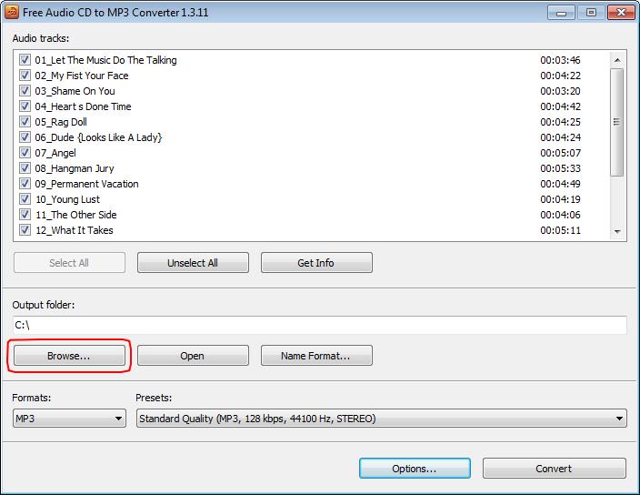 free audio cd to mp3 converter 1.3 11