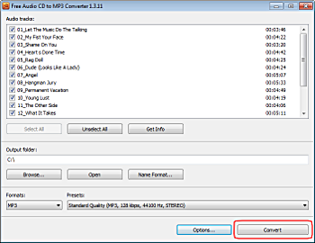 Free Audio CD To MP3 Converter: convertir Audio CD