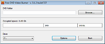 Free DVD Video Burner: Iniciar el programa