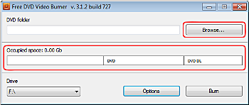 Free DVD Video Burner: add video to burn