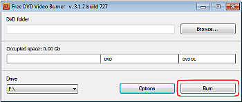 Free DVD Video Burner: burn DVD video