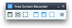Free Screen Video Recorder: launch the program