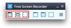 Free Screen Video Recorder: select a region to capture