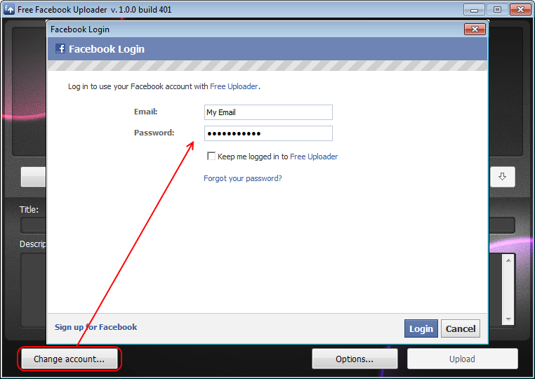 How to upload to Facebook: DVDVideoSoft.com