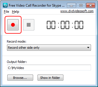 Free Video Call Recorder for Skype: record call
