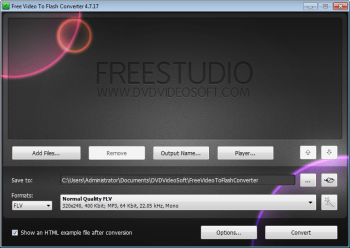 Free Video to Flash Converter: iniciar o programa