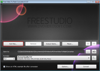 Free Video to Flash Converter: seleccionar um arquivo de vídeo de entrada