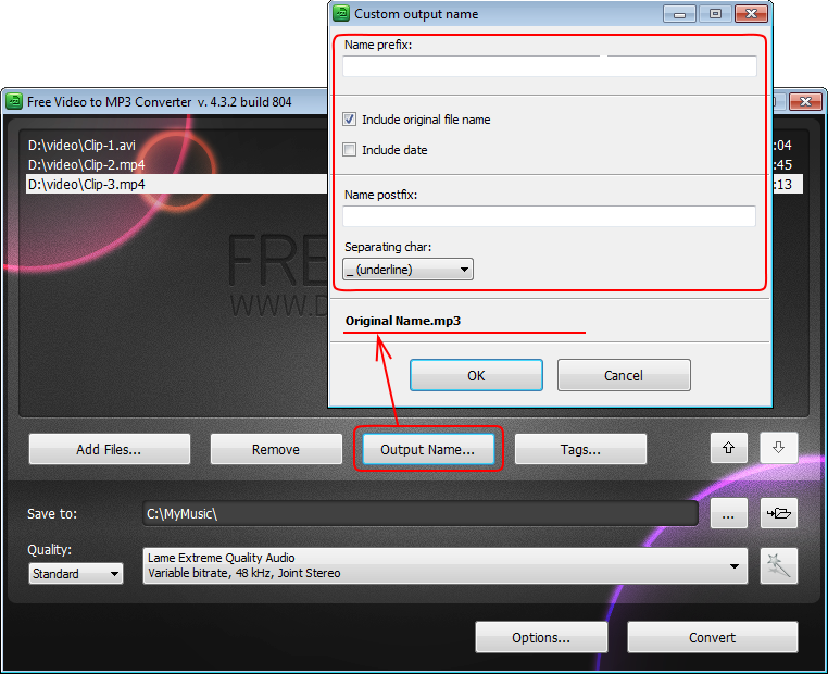 Free Video to MP3 Converter: extract audio from video