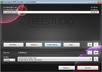 Free Video to MP3 Converter: extrayez l'audio de la vidéo