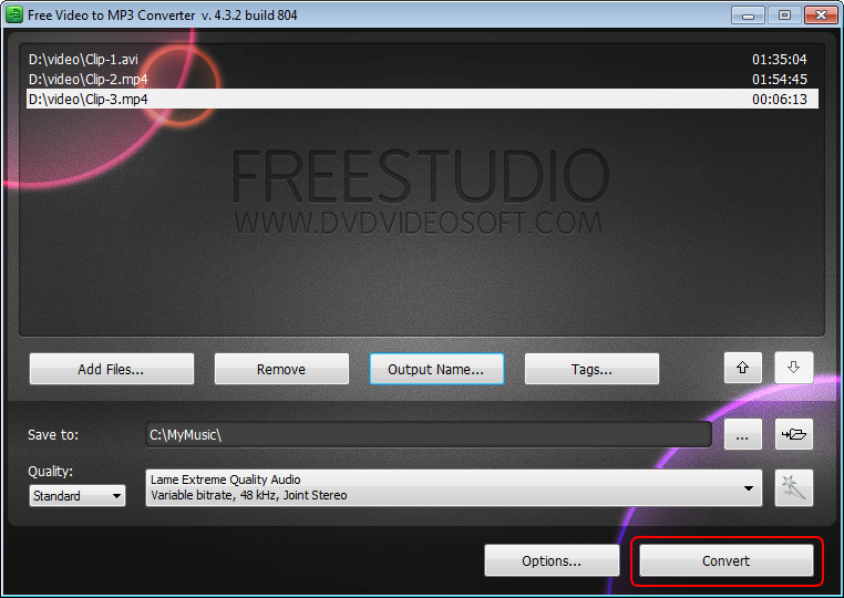 Free Video to Flash Converter: reproduisez le fichier converti