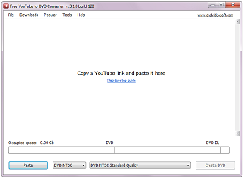 Free YouTube to DVD Converter: iniciar o programa