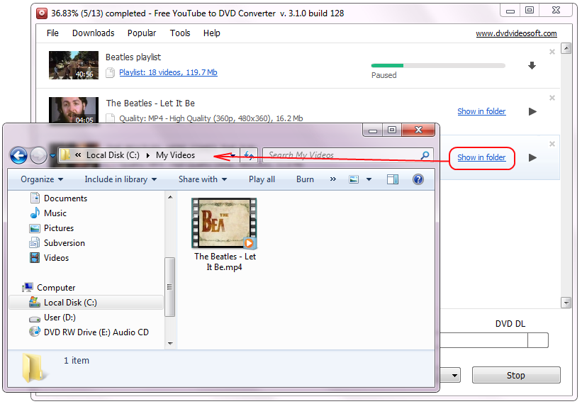 Free YouTube to DVD Converter: trova il video