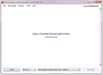 Free YouTube to iPhone Converter: iniciar el programa
