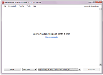 Free YouTube to iPod Converter: launch the program