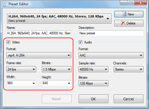 How to Use Preset Editor. DVDVideoSoft Guide.