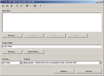 3GPVideoConverter Free 3GP Video Converter   Chuyển đổi nhạc định dạng 3GP