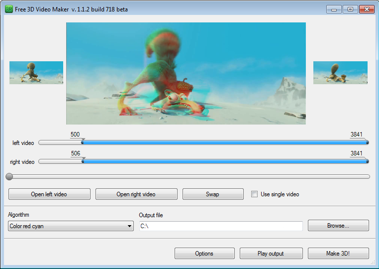 Click to view Free 3D Video Maker screenshots
