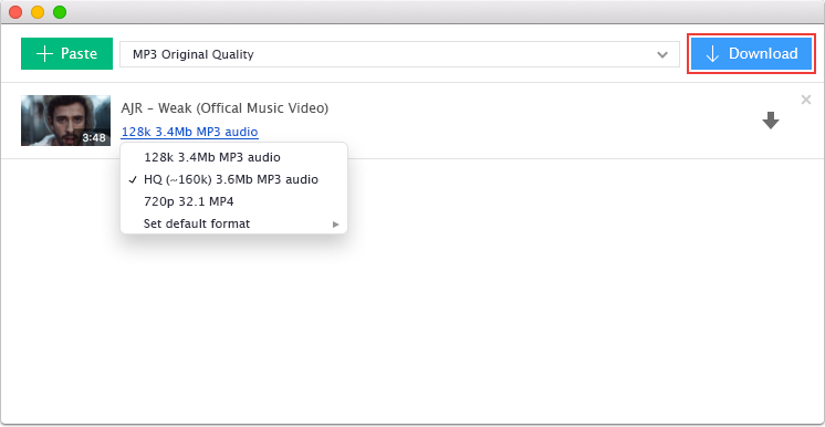 Youtube to mp3 for mac download youtube music in high quality press the download button ccuart Images
