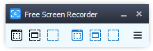 Ventana de control de Free Screen Video Recorder.