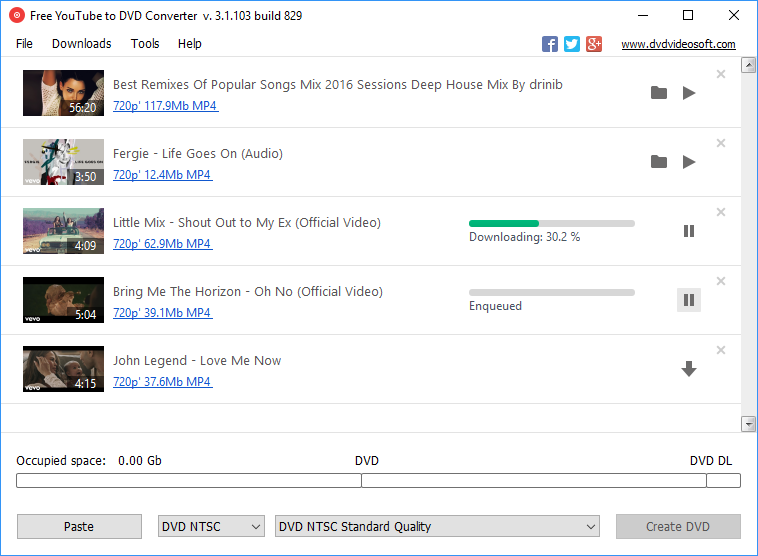 Free YouTube to DVD Converter 3.1.3.610