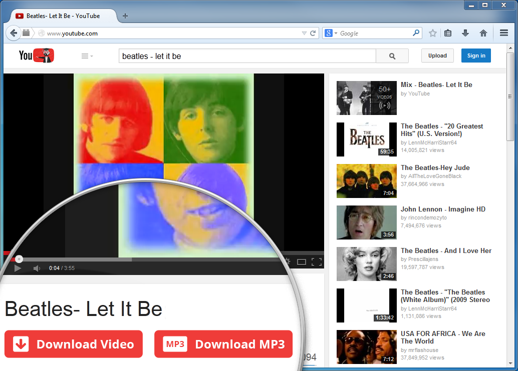 Youtube video downloader addon for chrome