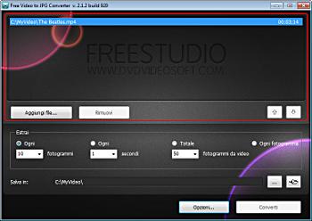 Free Video to JPG Converter: seleziona i file di input