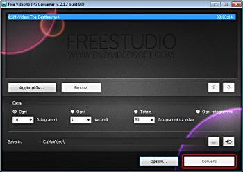 Free Video to JPG Converter: estrai i fotogrammi