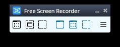 Free Screen Video Recorder: Запустите программу