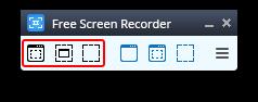 Free Screen Video Recorder: выберите область захвата