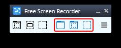 Free Screen Video Recorder: выберите режим захвата видео